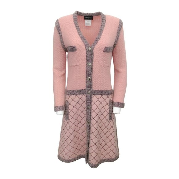 CHANEL Dresses & Skirts - Chanel Pink Knit with Cashmere Dress